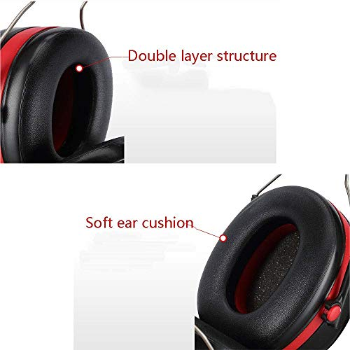 FS Professional Noise Reduction Earmuffs, Protective Earmuffs Sleeping Anti-noise Headphones Sleep Learning Industrial Noise Reduction Headphones Noise Reduction 30-35 Decibels by FSHEZ (Image #5)