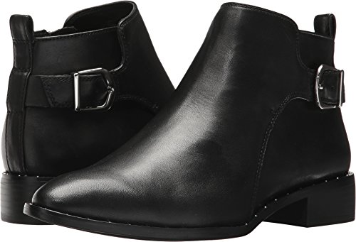 STEVEN by Steve Madden Women's Clio Ankle Boot, Black Leather, 8.5 M US