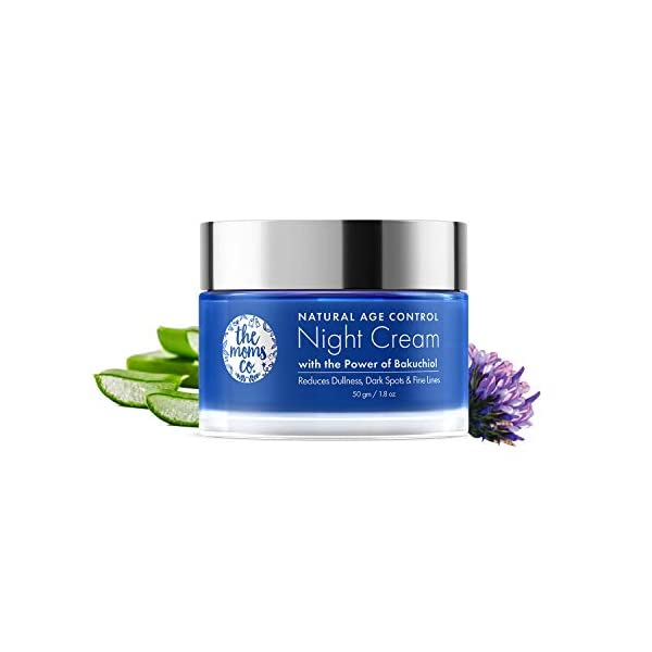 The Moms Co Natural Age Control Night Cream l Face Cream l Overnight Repair & firming l Reduce Fine Lines & Wrinkles l… 2021 June Natural age control night cream has bakuchiol (a natural alternative to Retinol) & Niacinamide which reduce the appearance of fine lines, wrinkles & dark spots Restores skin firmness- natural age control night cream has bakuchiol (a natural alternative to Retinol) & hyaluronic acid improves skin firmness and elasticity by retaining the moisture in the skin Natural age control night cream has hyaluronic acid and chia seed oil which reduce the appearance of dark spots & blemishes and improves upon the overall radiance of the skin