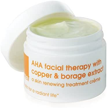 LATHER AHA Facial Therapy with Copper & Borage Extract 1 oz - powerful, restorative face cream to help reduce the signs of aging