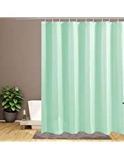 Water-Repellent Fabric Shower Curtain Liner, Durable and Fashion Shower Curtain, White Shower Liner for Shower Stall,Mold Mildew Resistant, Machine-Washable,Eco-Friendly and PVC-Free, 72 x 72 Inch