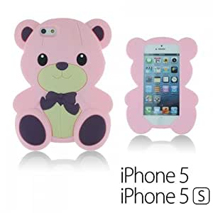 OnlineBestDigital - Dog Style Soft Silicone Case for Apple iPhone 5S / Apple iPhone 5 - Pink