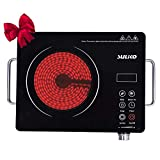 Cheap Suliko Electric Cooktop, 1800W Portable Countertop Burner, Sensor Touch Electric Induction Cooktop Countertop Burner Suitable for Iron, Stainless Steel, Glass, Ceramic Cookware
