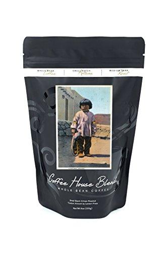 Arizona - Hopi Indian Boy outside of Pueblo (8oz Whole Bean Small Batch Artisan Coffee - Bold & Strong Medium Dark Roast w/ - For Kids Pueblo