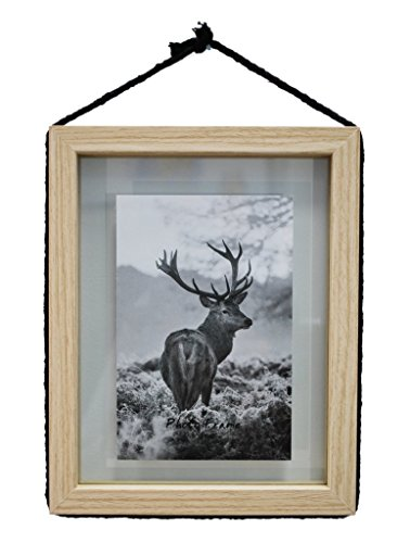 7x8.5 Floating Picture Frame - Made to Fit 4x6 inch Photo -