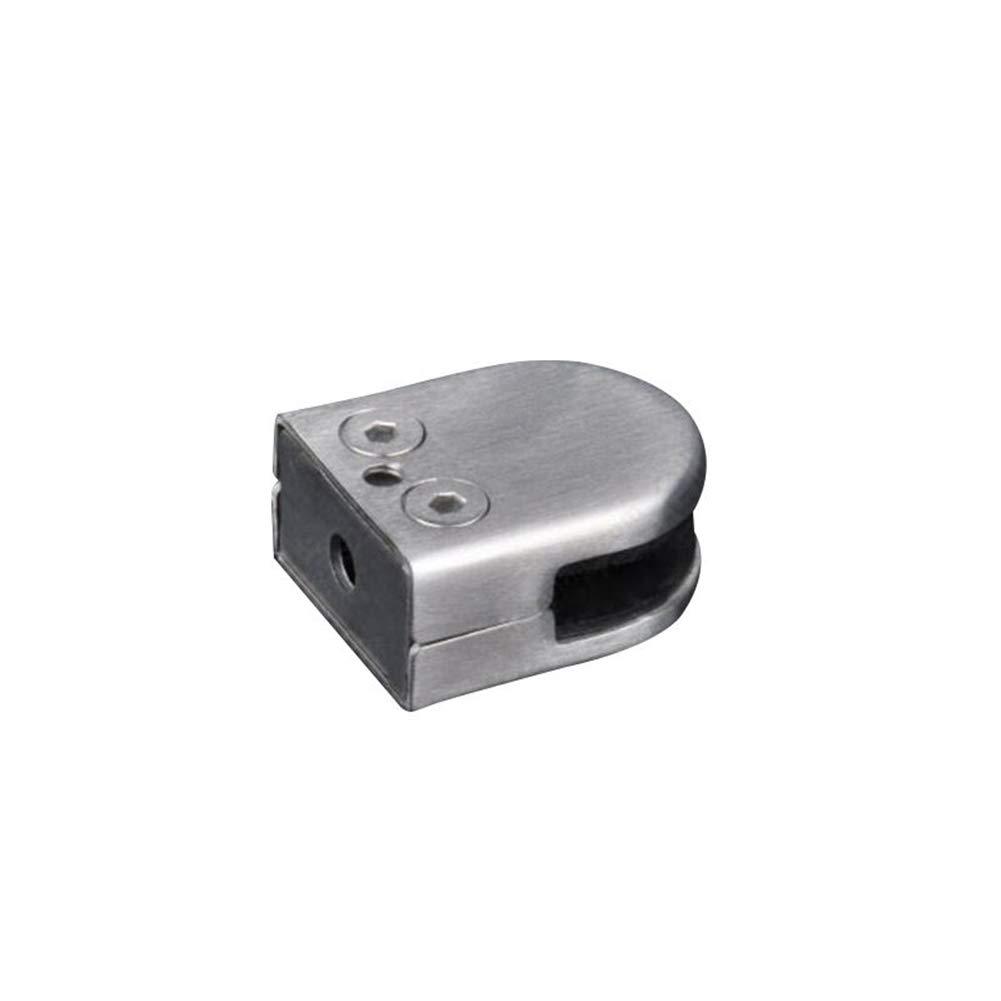 RANZIX Glasklemme 24pcs 6-8mm Rostfreier Stahl 304 Glashalter Verstellbare Glashalterung Flache R/ückseite f/ür Balustrade Treppe Handlauf