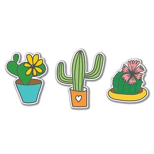 7 cacti set cute vinyl sticker