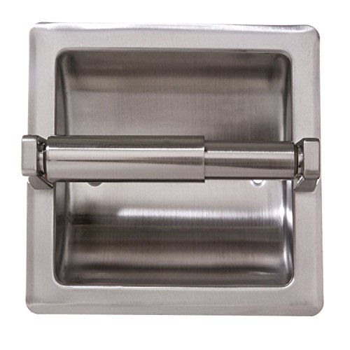 Modern Recessed Toilet Paper Holder with Stainless Steel Construction Satin Nickel Great For Your Home - Hamilton List Sunshine