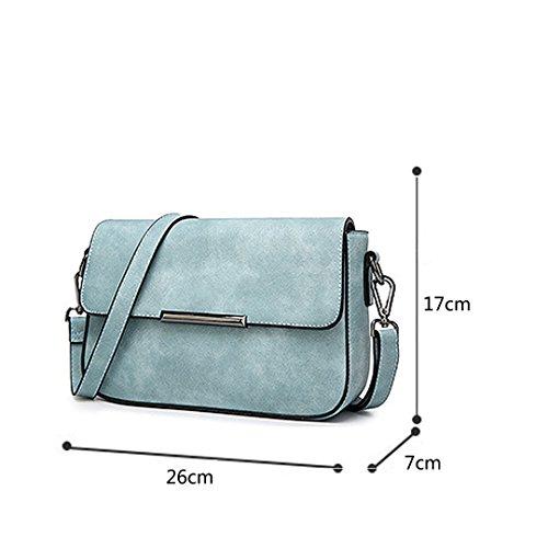 épaule carré PU sac Bleu fashion simple sac main Wewod femmes petit cuir à sac nouveau boucle bandoulière tPnpY