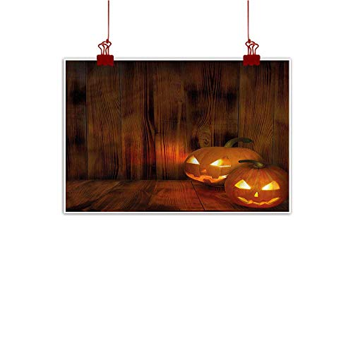 Sunset glow Home Wall Decorations Art Decor Pumpkin,Scary Jack o Lanterns Grin 32