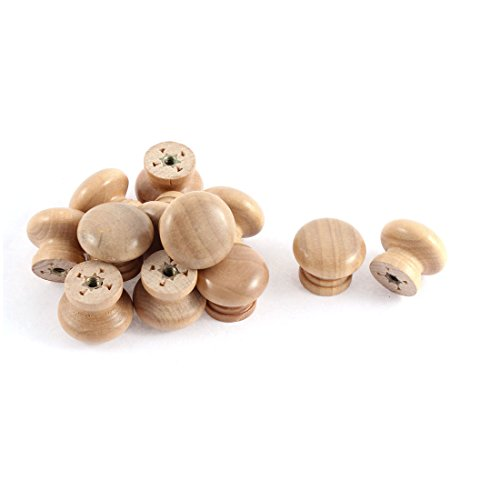 Wooden Furniture Knobs (uxcell Cabinet Drawer Cupboard Wooden Round Handle Pull Knob Grip 12)