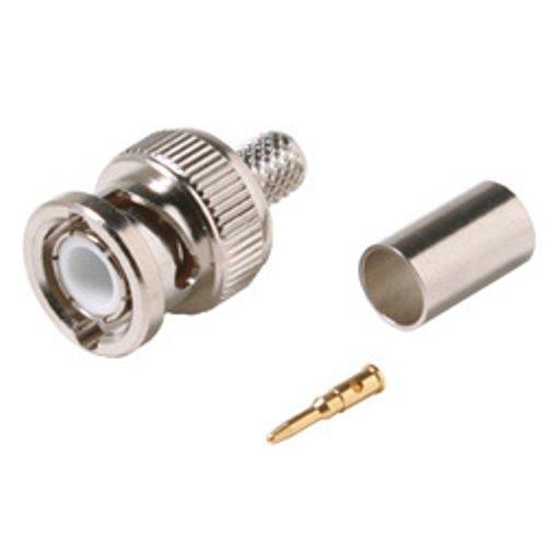 3 Piece Plenum BNC Plug Crimp Connector for RG59 - 10 Pack