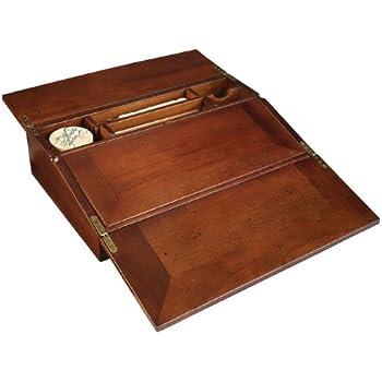 amazon com campaign lap desk writing set portable writing desk rh amazon com wooden lap desk plans wooden laptop lap desk
