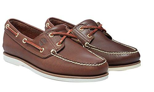 Timberland Men's Classic 2-Eye Boat Shoe, Dark Brown, 10 M