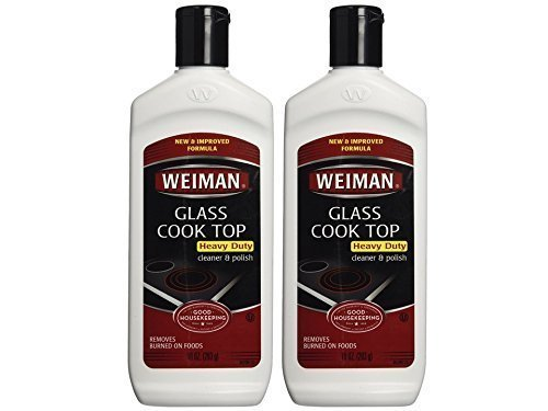 Weiman Glass Cook Top Heavy Duty Cleaner & Polish, 10 oz, Pack of 2