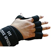 New Ventilated Weight Lifting Gloves with Built-In Wrist Wraps, Full Palm Protection & Extra Grip. Great for Pull Ups, Cross Training, Fitness, Crossfit, WODs & Weightlifting. Suits Men & Women