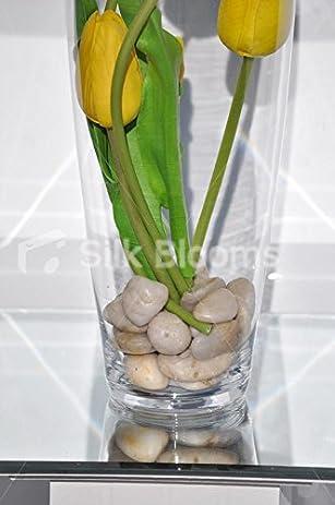 Amazon Fresh Touch Sunshine Yellow Tulips W Pebbles Floral