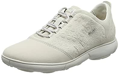 GEOX D Nebula A Womens Lace Up Sneakers/Shoes-Off White-5