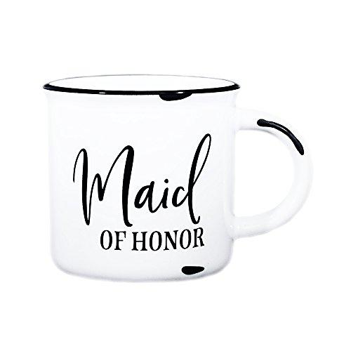 Maid Of Honor Mug - 15 oz White Campfire Mug - Maid Of Honor Proposal Gift, Maid Of Honor Thank You Gift