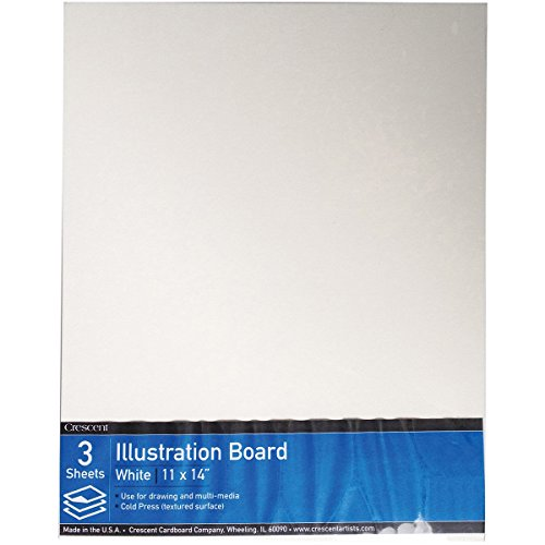 Mount Canvas Collection (Crescent #99 Illustration Board, Cold Press,  Value  Pack, 3 Count, 11