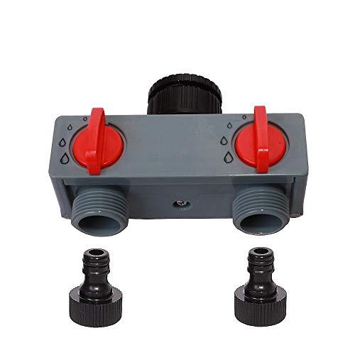 AZUDAN Garden Water Connectors | Way Water Distributor Tap Adapter ABS Plastic Connector Hose Splitters for Hose Tube Water Faucet #27211