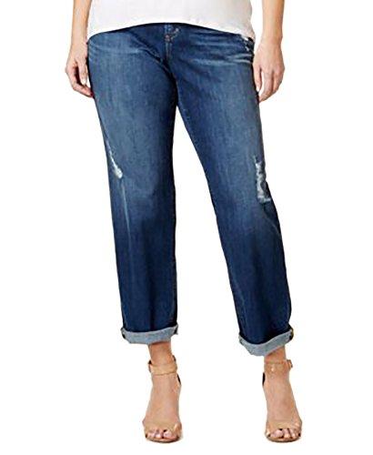Size Michael Plus Kors Jeans (MICHAEL Michael Kors Plus Size Dillon Ripped Antique Wash Boyfriend Jeans)