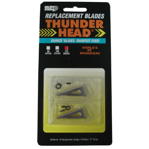 115 Grain - New Archery Products 125 Grain 18-Pack Thunderhead Replacement Blades