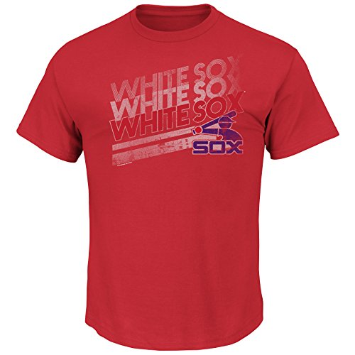 MLB Chicago White Sox 1981-85 Cooperstown Men's Capacity to Win Tee, Small, Red