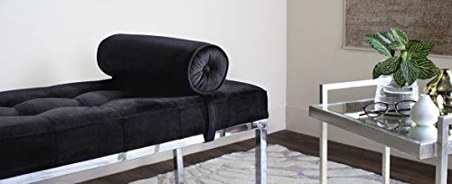 Safavieh FOX6240B Home Collection Xavier Tufted Bench, Black by Safavieh (Image #1)