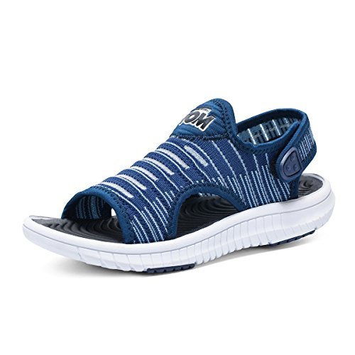 dals Open Toe Sports Water Sandals Summer Shoes Kids Athletic Outdoor Strap Shoes Blue 1 ()