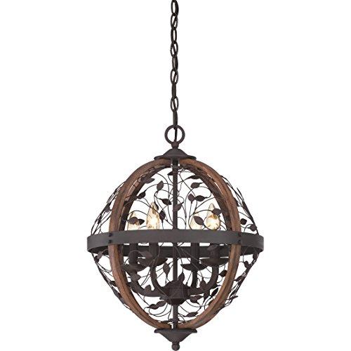 (Quoizel CHB5204DK Chamber Foyer Pendant Lighting, 4-Light, 240 Watts, Darkest Bronze (21