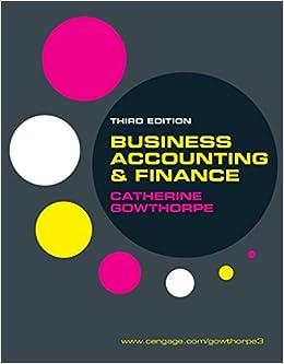 Business Accounting and Finance: Amazon.co.uk: Catherine Gowthorpe