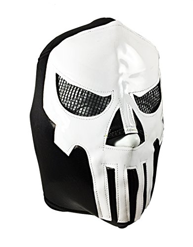 [PUNISHER Adult Lucha Libre Wrestling Mask (pro-fit) Costume Wear] (The Punisher Costume For Adults)