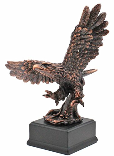 - L7 Enterprises American Bald Eagle Taking Flight Patinated Copper Bronze Statue (Figurine)