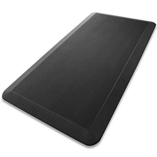 Miusco Cloud Mat, 20 X 39 inch Certified Anti-Fatigue Standing Desk Comfort Mat, , Black
