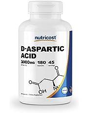 Nutricost D-Aspartic Acid Capsules (180 Capsules) (3000mg Serving)