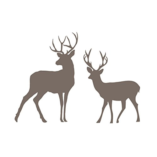 Nursery River Birch - Ditooms Deer Wall Decal Vinyl Forest Woodland Animals For River Birch Trees Theme Wall Decal For Kids Room Decor