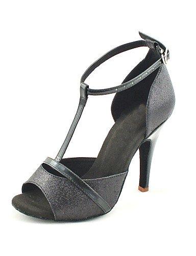 La mode moderne Sandales femmes personnalisables Chaussures de danse de bal latino/Glitter mousseux Talon personnalisés Black,bleu,US6/EU36/UK4/CN36