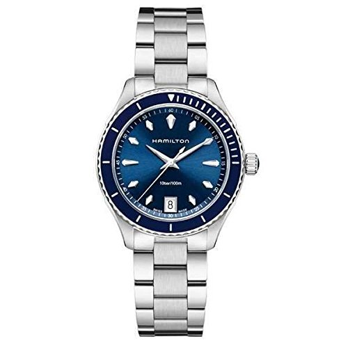 (Hamilton Jazzmaster Seaview Blue Dial Stainless Steel Ladies Watch H37451141)