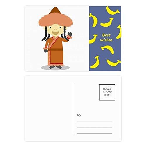 - Smile Overcoat Mongolia Cartoon Banana Postcard Set Thanks Card Mailing Side 20pcs