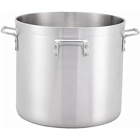 Winco ALHP 140H 140 Quart 22 8 X 20 3 Precision Extra Heavy Commercial Grade Aluminum Stock Pot With 4 Handles NSF
