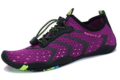 WXDZ Men and Women Barefoot Skin Aqua Shoes Water Shoes for Beach ()