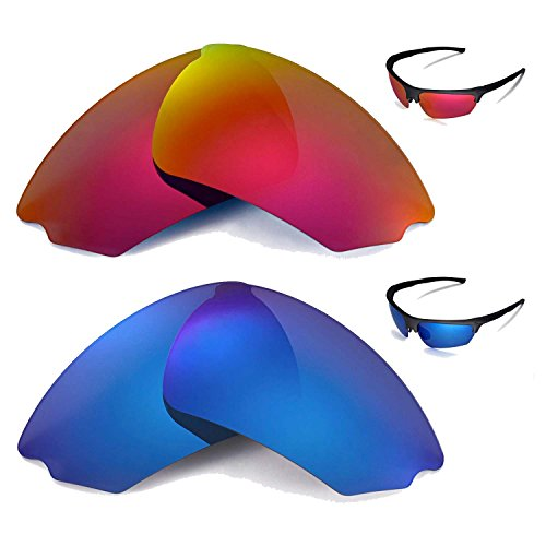 Walleva Polarized Fire Red+Ice Blue Replacement Lenses for Rudy Project Noyz - Rudy Noyz Sunglasses