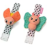 Infantino Wrist Rattles, Butterfly and Lady Bug