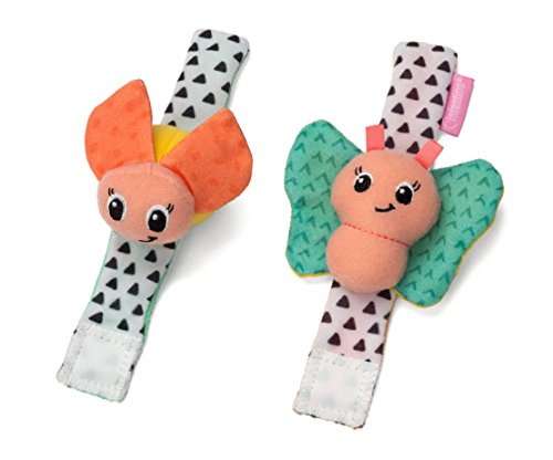 Infantino Butterfly & Lady Bug Sparkle Wrist Rattles