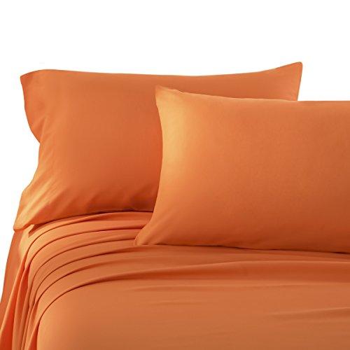 HONEYMOON HOME FASHIONS Brushed Microfiber Full Bed Sheet Set, Orange