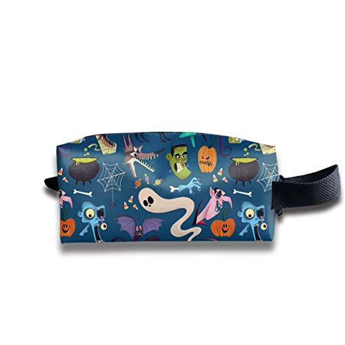 Halloween Ghost Witch Bat Prom Party Child Multi-Function Key Purse Coin Cash Pencil Travel Makeup Toiletry Bag Box -
