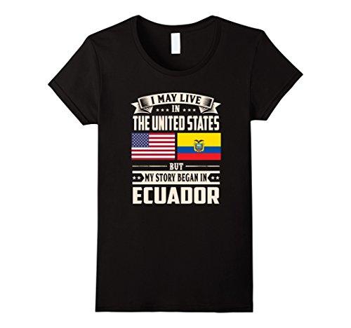 Womens Ecuador Lovers In Usa Shirt Medium Black