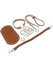 F Fityle DIY Knitting Crochet PU Leather Bag Bottom Shaper Handbag Purse Base Shaper - Brown, One Size