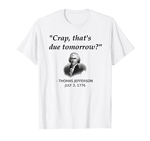 Funny Thomas Jefferson USA History Teacher T-Shirt Geek Gift (Thomas Jefferson Separation Of Church And State Quote)